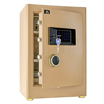 TIGERKING Double Safety Digital Security Home Office Safe