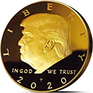 Donald Trump Coin 2020 - Gold Plated Collectible Coin, Protective Case Included - Re-Election Gift, Show Your Support to Keep