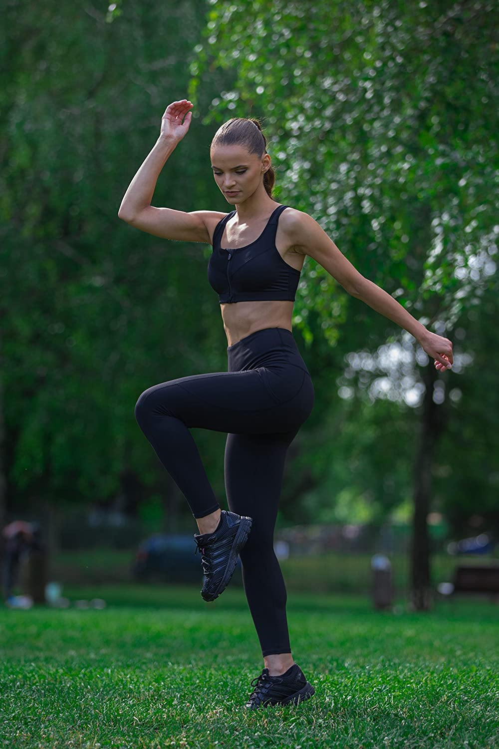 CoEdyNo Workout Leggings Athletic Extra Long Yoga Pants Tummy Control for Woman