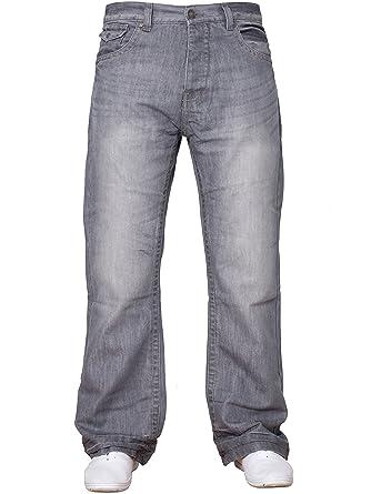 APT Neuf de Marque pour Hommes Basique Coupe Bottillon évasé Jambe Large Bleu  Jean Jeans Tout aa1373ec7885