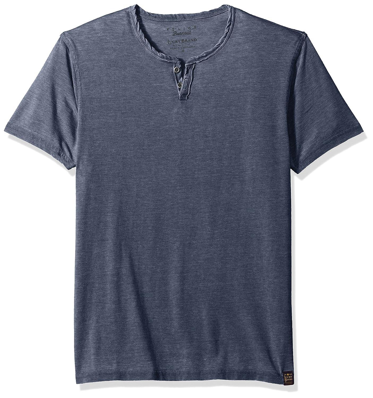Lucky Brand Mens Standard Venice Burnout Notch Neck Tee Shirt 7M62161