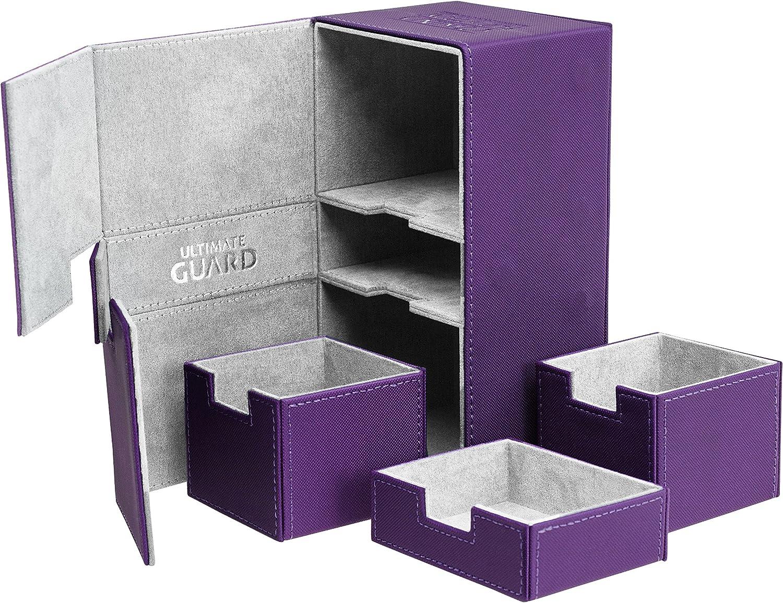 Ultimate Guard 200 Card Twin Flip N Tray Xenoskin Deck Case, Purple
