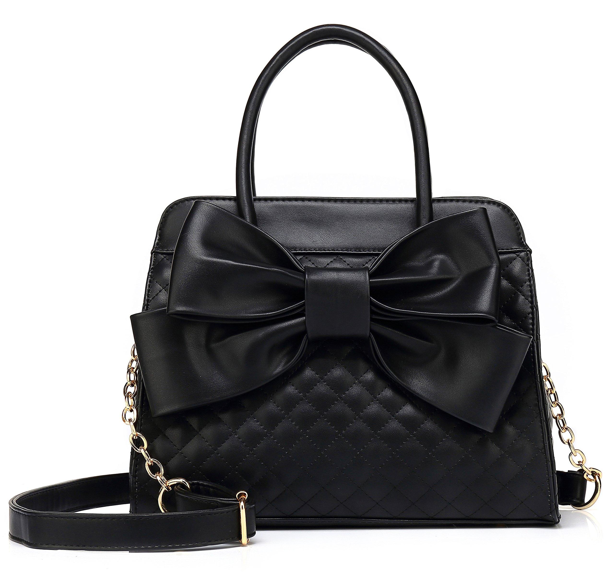 Scarleton Ultra Soft Tote Handbags Shoulder Bags Hobo Bags Satchel Purses Top Handle Bag Crossbody Bags for Women H104801N - Black