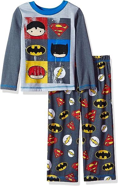 Komar Kids Justice League Who is Your Super Hero Pajama Set Boys Size 10