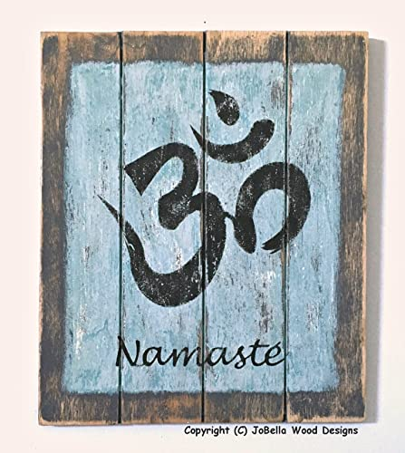 de4501408a Distressed, Handmade Om and Namaste' Wood Painting - Hindu Wall Art Goes  with Rustic, Urban, Reclaimed Wood, Pallet, Industrial, Indian and Asian  Decor ...