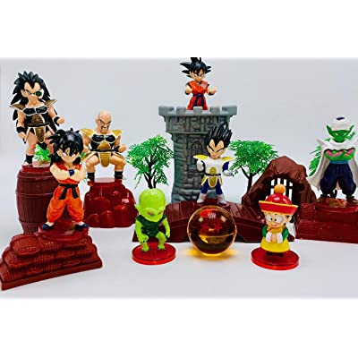 Dragon Ball Z Play Set Featuring Dragon Ball Z Figures and Themed Accessories: Toys & Games