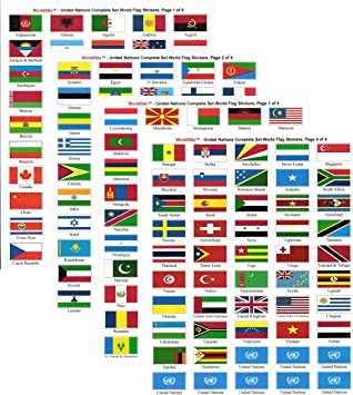 SOUTH AFRICA 3 SIZES . NEW SET OF 7 COUNTRY FLAG VINYL CAR STICKERS