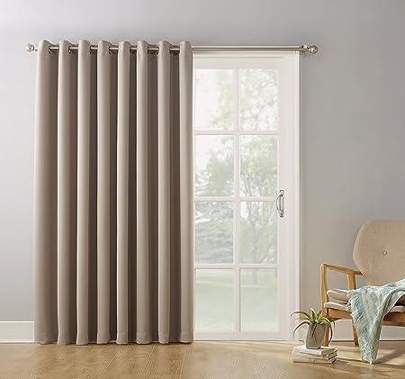 Sun Zero Easton Blackout Patio Door Curtain Panel 100 X 84 Stone