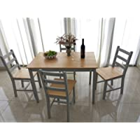 Panana, set di tavolo da pranzo e 4sedie, in stile contemporaneo