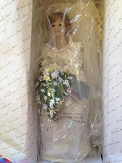 Amazon.com: Princess Diana Vinyl Wedding Doll by Franklin Mint: Toys ...