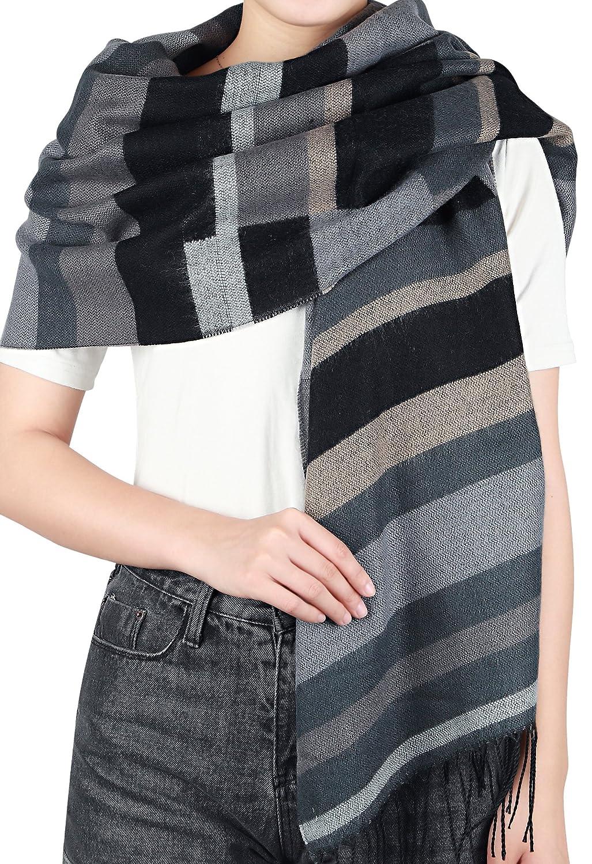 Feinzwirn Lykkja - weicher XL Schal, Schultertuch in Trendigem Farb-/Mustermix