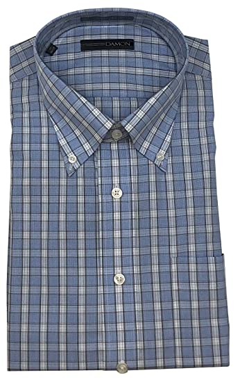 Damon Big and Tall Long Sleeve Ultra Pinpoint Button Down Dress Shirt