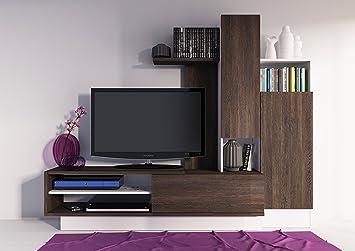 Mueble de salón o comedor moderno en color wengue y blanco con ...