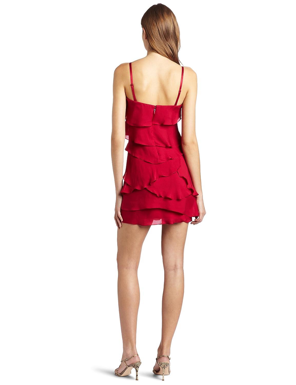 c158c955ac234 Amazon.com: BCBGMAXAZRIA Women's Ginger Strapless Ruffled Tiered Dress:  Clothing