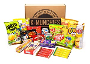 Korean Snack Box Set with Chips, Ramen, Food, Noodles, Variety Assortment. Excellent Healthy Gift or Care Package for Birthday and Holiday (17 Different Items)