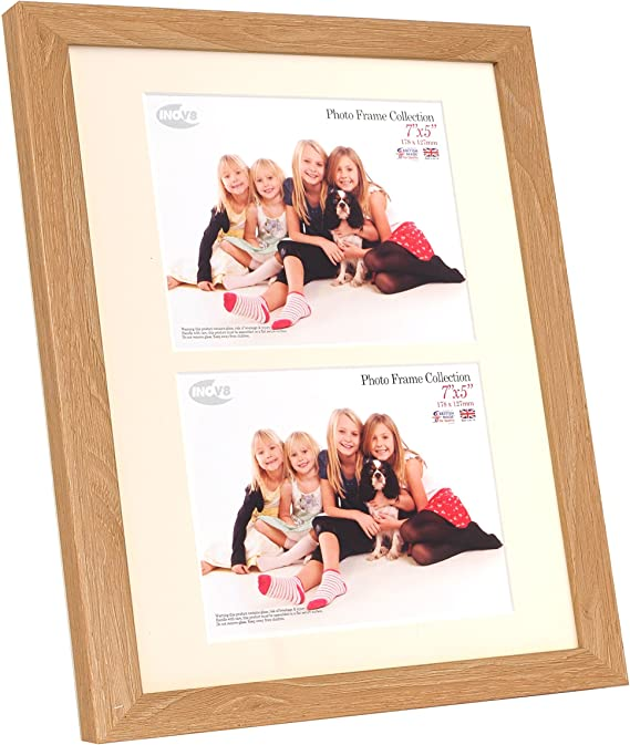 Inov8 Framing Inov8 British Made Picture Photo Frame 12x10 Inch With Two 7x5 Inch Inserts Lime Oak 12 X10 30 48cm X 25 4cm Dual Apperture 2 X 7 X5