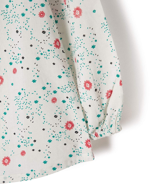 ZIPPY Blouse LS Cambric W//Flowers Cloud Danc Camicia Bambina