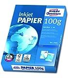 Avery Zweckform 2566 Inkjet Druckerpapier (A4, 100 g/m², blickdicht, seitenmatt) 500 Blatt hochweiß