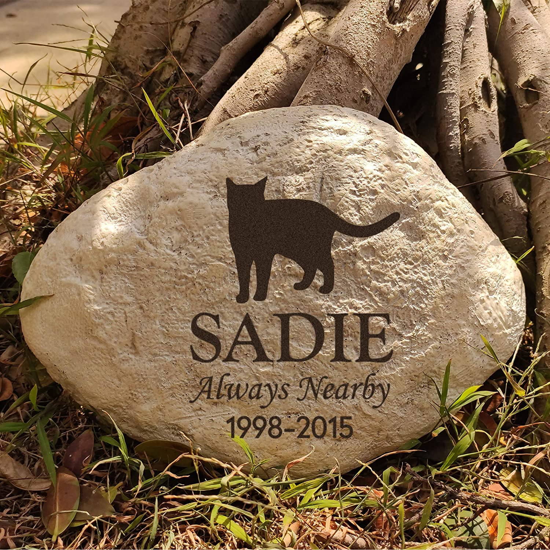 Cat Headstone MARYTUMM Personalized Cat Memorial stone Custom Cat Grave Markers Cat Memorial Plague Cat Loss Gift