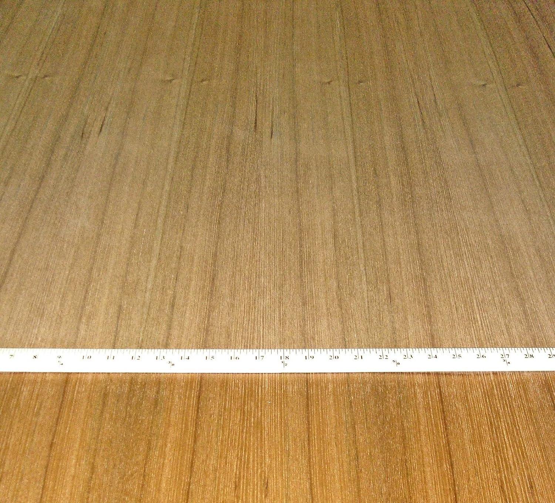 "Quartered Teak wood veneer 24"" x 96"" with peel and stick PSA"