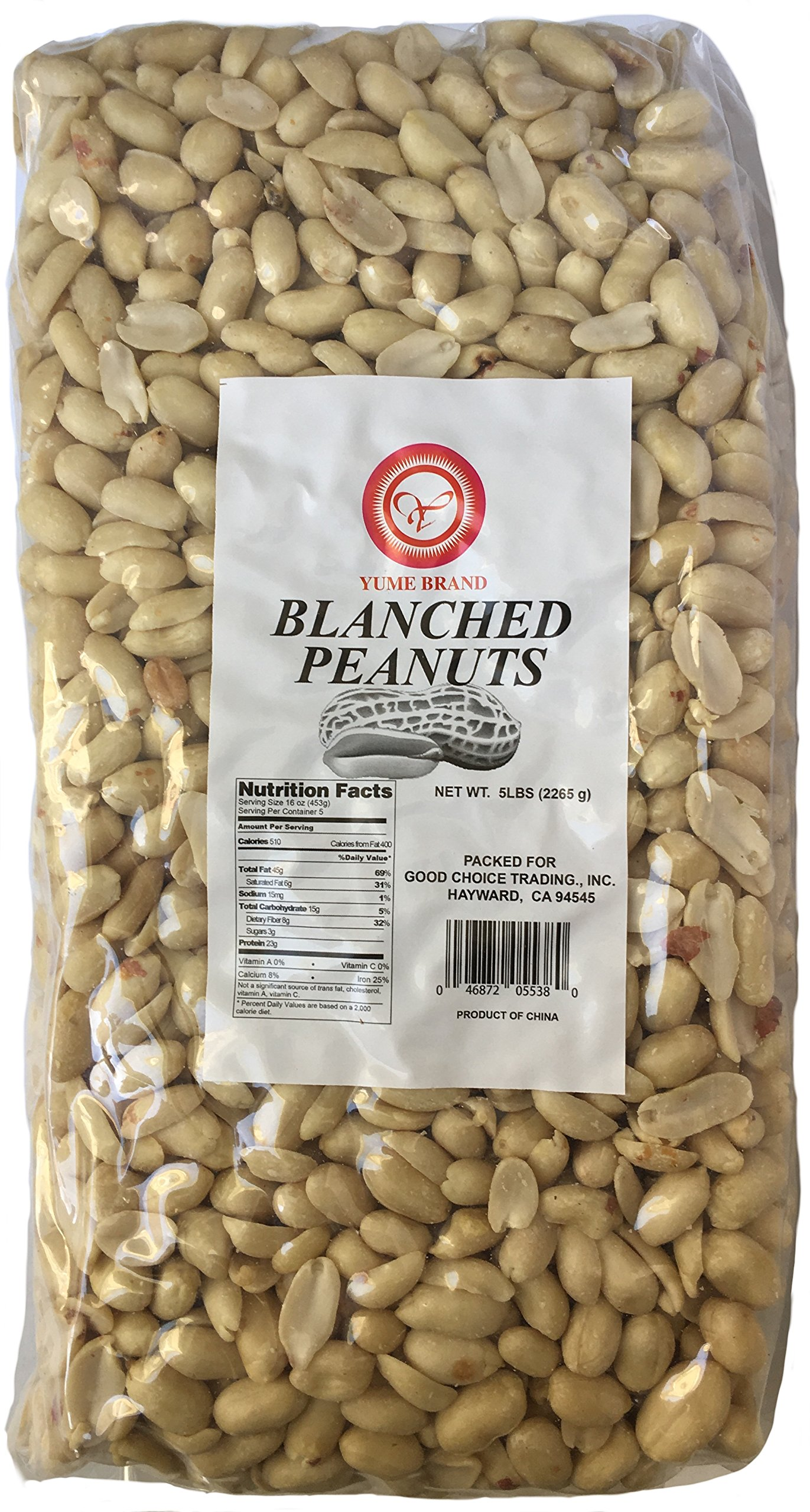 Yume 10 lb. Unsalted peanuts, raw, vacuum packed freshness, great for peanut butter, brittle, snacks! Skinned and shelled so weight is only in peanuts not what you throw away!