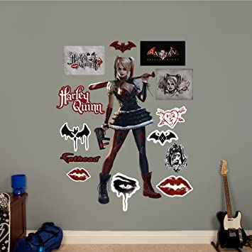 Fathead harley quinn arkham knight real decals