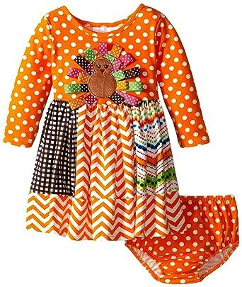 Amazon Bonnie Baby Baby Girls Infant Ribbon Turkey Appliqued