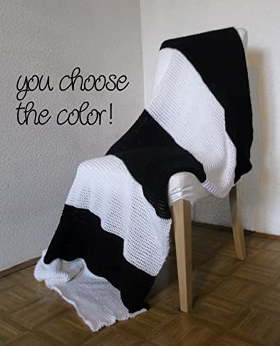 Amazon Personalized Striped Modern Afghan Throw Blanket Wide Extraordinary Black And White Striped Throw Blanket