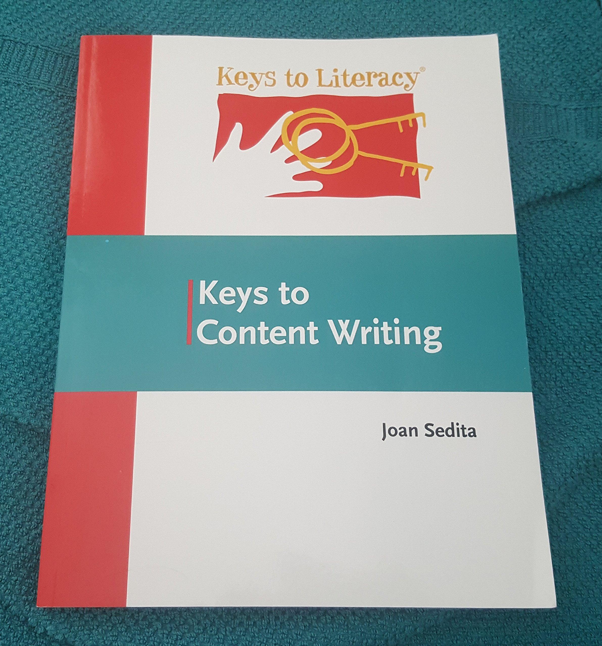 Training book: keys to content writing (3rd edition, 2018) keys.