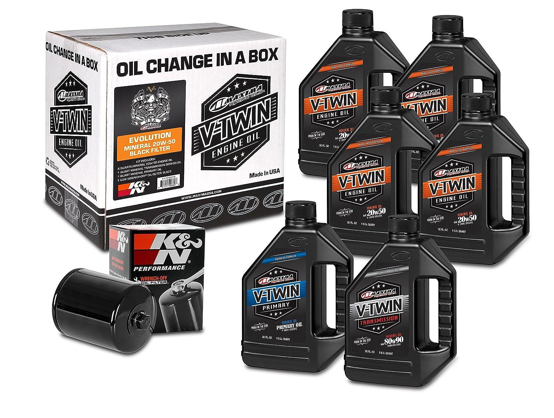 Maxima Racing Oils 90 – 069016bブラックMaxima 90 – 069016b Evolutionミネラル20 W50ブラックフィルタCompleteオイル変更キット、6クォート、1パック B071YP29N8