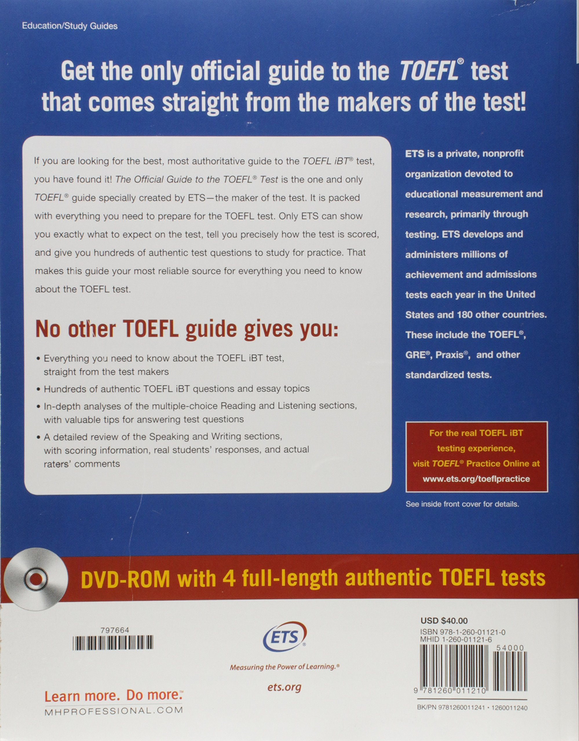 The Official Guide to the TOEFL Test with DVD-ROM, Fifth Edition by McGraw-Hill Education