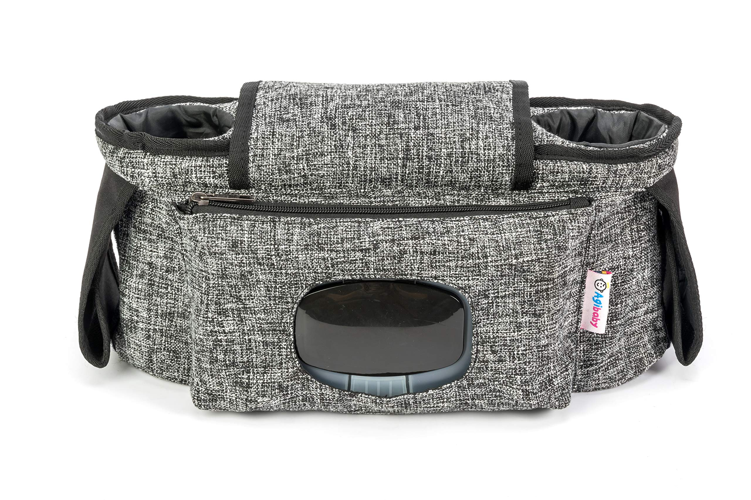 Agibaby Stroller Organizer, Insulated Deep Cup Holders, Instant Access Wipe Pocket, Universal Strap Fit, Large Storage Space by Agibaby (Image #6)