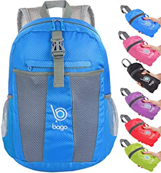 Bago Foldable Rucksack for Women and Men. Lightweight Water Resistant  Packable Backpack, Great Unisex 3dfc9e1e6c