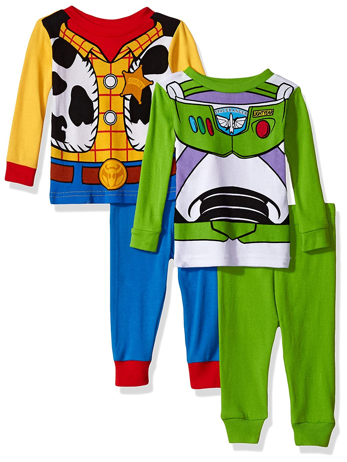 Disney Toy Story Boys' 4-Piece Cotton Pajama Set 21TS023BLSAZ