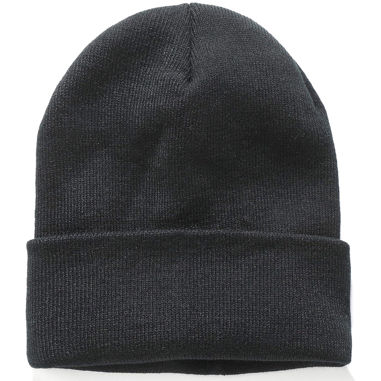 e0c7a0605e518 SSLR Adult Thermal Knit Cuffed Plain Winter Skull Cap Beanie (One Size