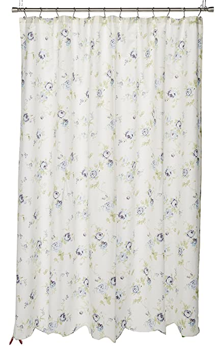 Daria Cotton Scalloped Shower Curtain Ivory 72x72quot