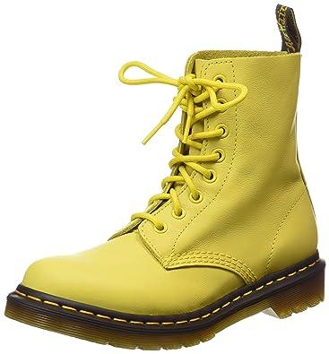 45d8cfdac432 Dr. Martens Pascal Virginia Wild Yellow, Chaussures Bateau Femmes, Jaune -Gelb,