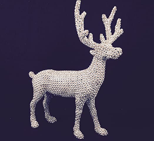 Gisela Graham Diamante Crystal Sparkly Reindeer Decoration