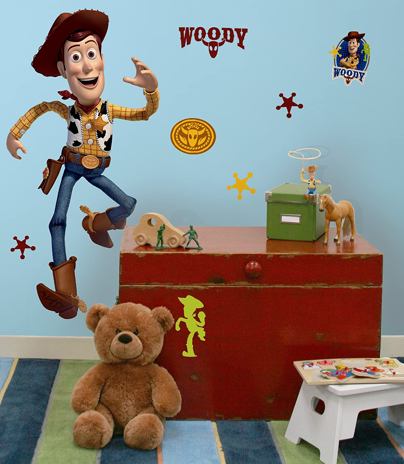 Amazon disney toy story 3 woody wall decal cutout 25x50 amazon disney toy story 3 woody wall decal cutout 25x50 home kitchen amipublicfo Image collections