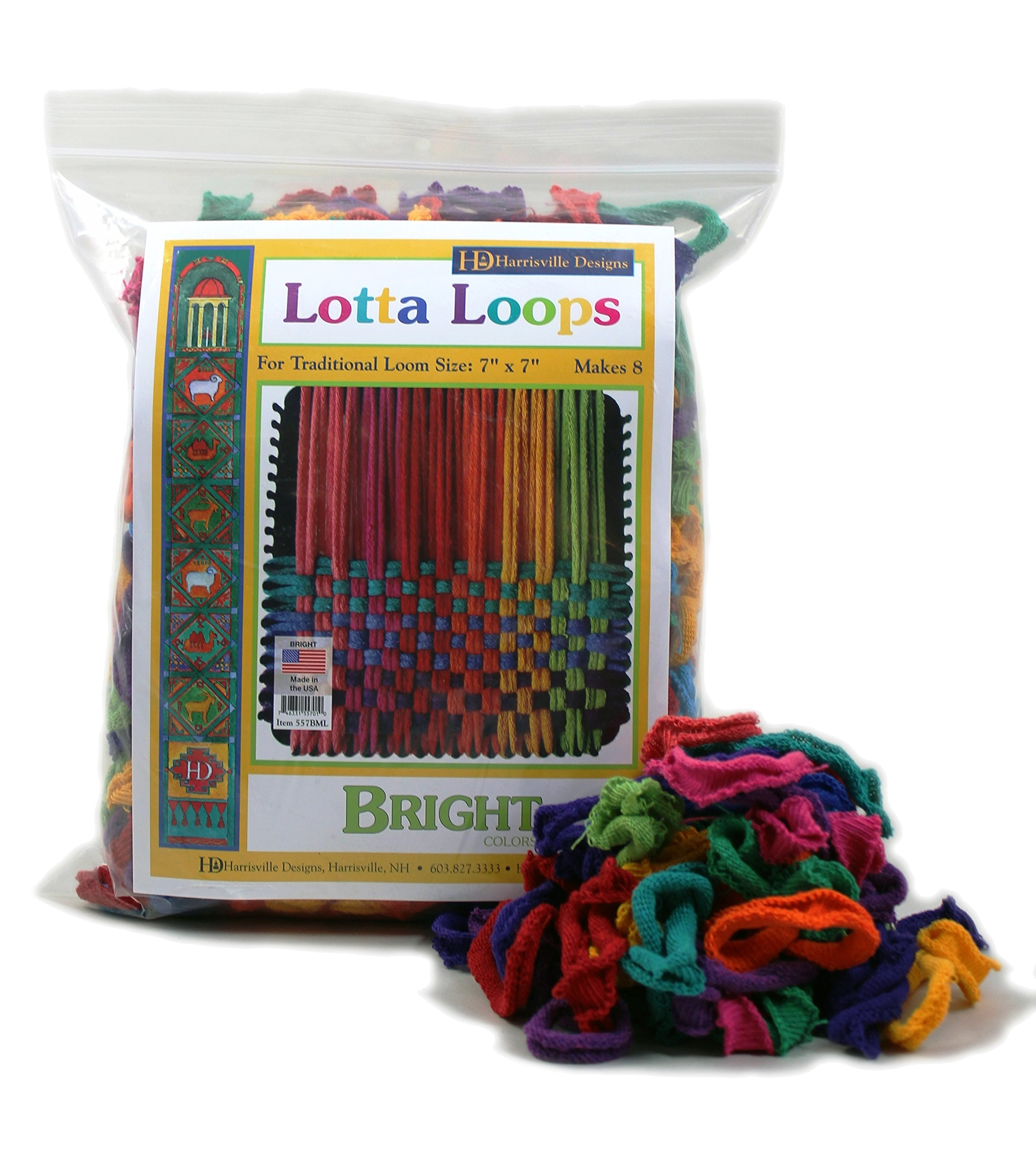 Harrisville Designs F557ML-AZ 7'' Bright Lotta Loops in Assorted Colors - Makes 8 Potholders by Harrisville Designs