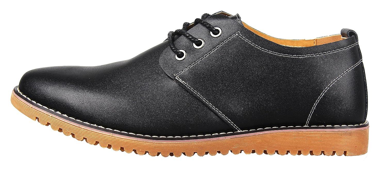 iLoveSIA Zapatos Cuero Casual de Hombre y Zapato Cordon Oxfords para Hombre Talla EU45(Etiqueta46) Negro Nuevo KpHpmYkK9P