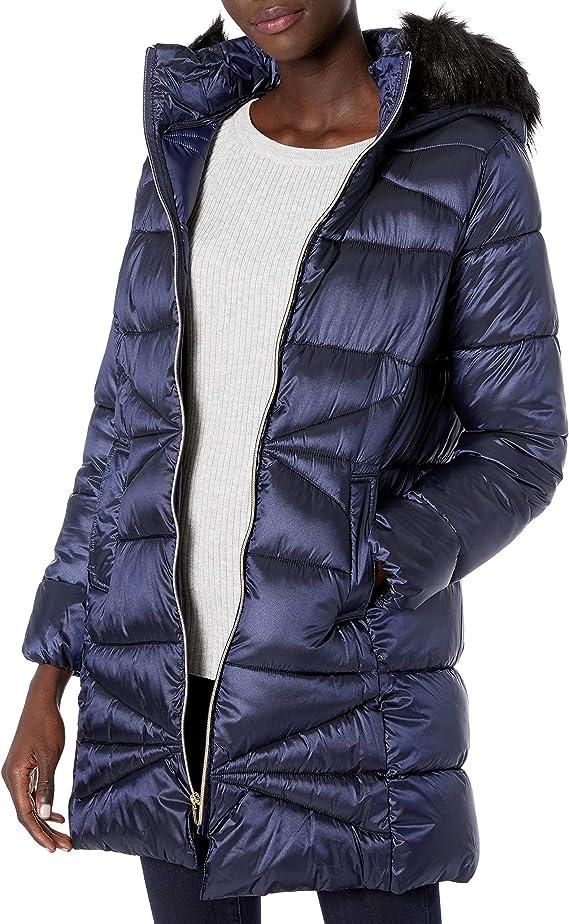 Cole Haan 可汗 女式中长款连帽保暖棉服 S码1.1折$28.68 海淘转运到手约¥293