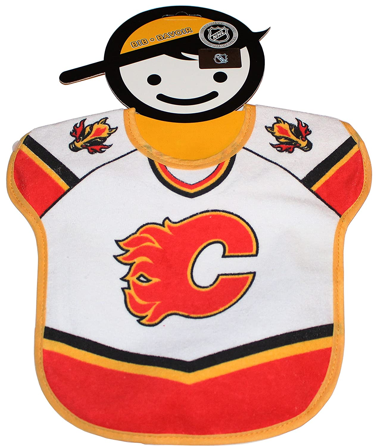 Calgary Flames Bib, for Hockey Lovers Aged 0+ Months The Home Game Inc.