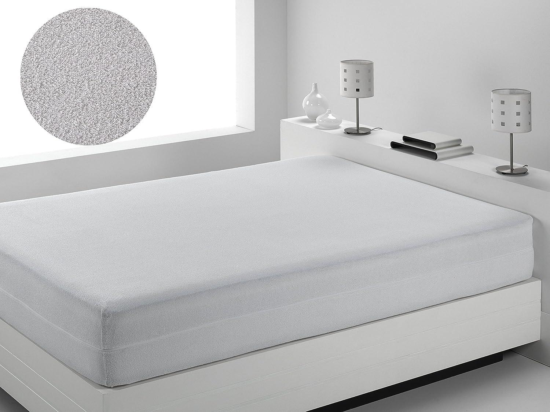 Dormio- Funda de Colchón, Transpirable 100% Algodón en Rizo tamaño 80 x 190/200. (Todas Las Medidas). Modelo Cian Don Almohadón FCAICIA080