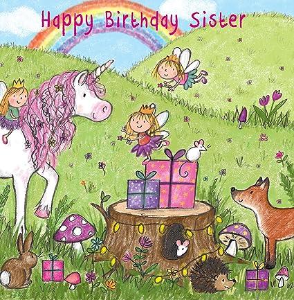Twizler Tarjeta de felicitación de cumpleaños para hermana ...