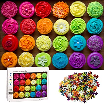 Jigsaw Puzzles 1000 Pieces for Adults Colorful Cookies DEELIFE 1000 Piece Puzzle for Adults Large Jigsaw Puzzle Kids Educational Game Toys Gift for Home Travel