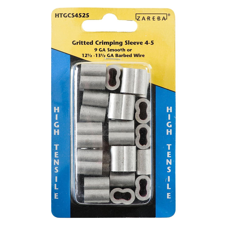 Amazon.com: Zareba HTGCS4525 Gritted Crimping Sleeve 4-5: Garden ...