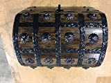 Well Pack Box Large Wood Treasure Chest Metal