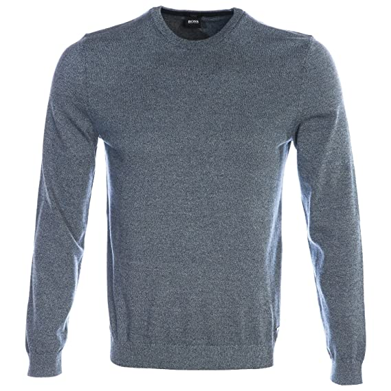 bf6a481a3a39 BOSS Hugo Black Mens Fabello Slim Fit Jumper  Amazon.co.uk  Clothing