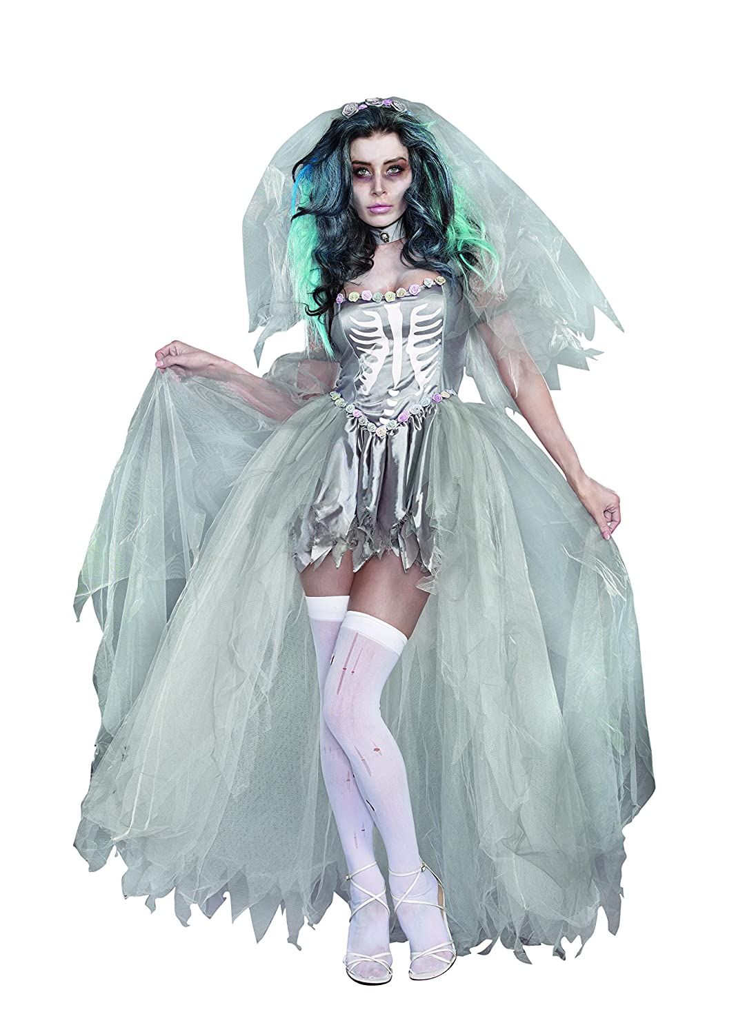 Amazon Dreamgirl Womens The Bride Of Doom Dead Zombie Costume Clothing